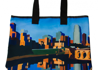 Minneapolis Skyline Reusable Grocery Bag