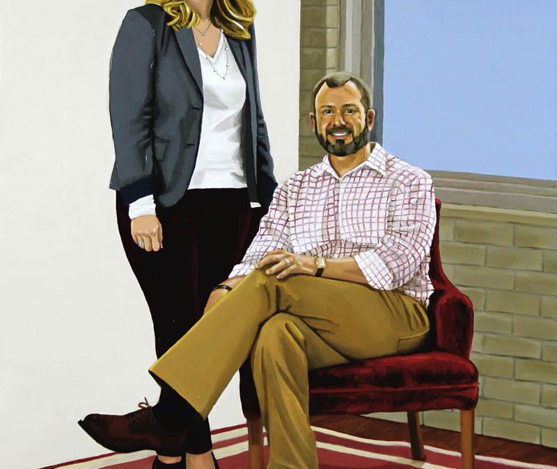 Finally Finished: Jennifer and Jon in the Red Chair