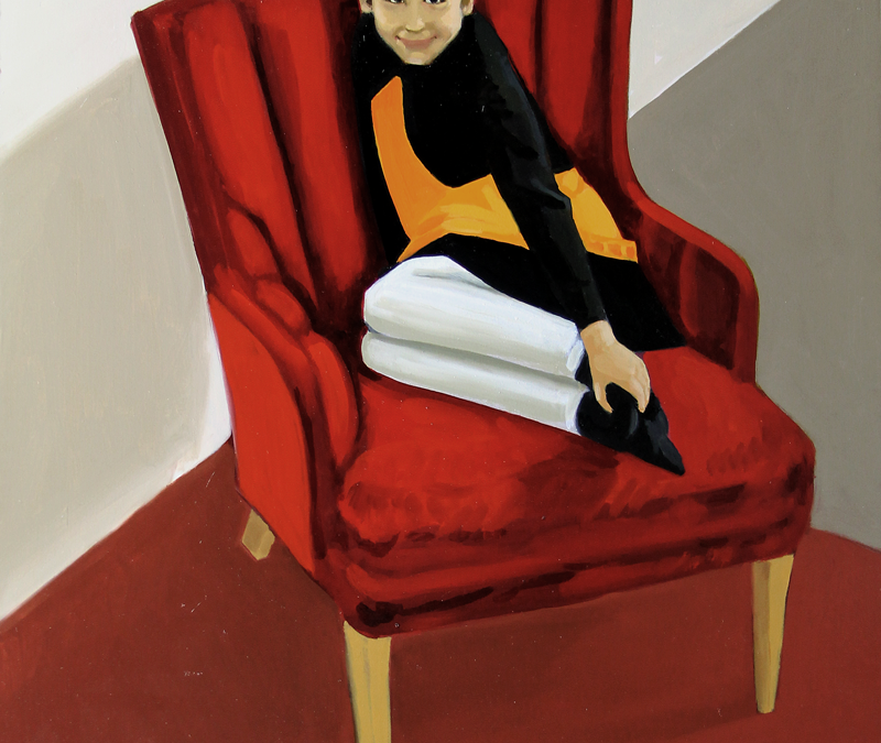New painting: Nilo in the Red Chair
